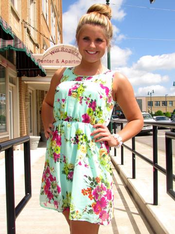 Hillary's Boutique Botanical Gardens dress